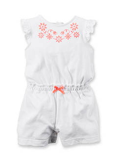 Carter's® Floral Embroidered Romper
