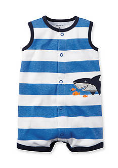 Carter's® Stripe Shark Creeper