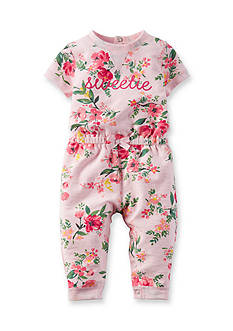 Carter's® Newborn Pink Floral French Terry Jumpsuit