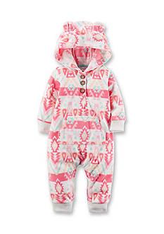 Carter's Hooded Tribal Fleece Jumpsuit
