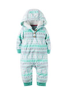 Carter's Hooded Fleece Jumpsuit