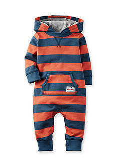 Carter's® Hooded French Terry Jumpsuit Baby/Infant Boy
