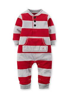 Carter's Striped Fleece Jumpsuit