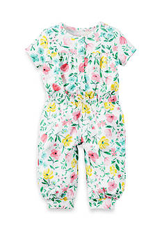 Carter's Floral French Terry Jumpsuit