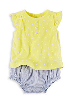 Carter's Layered-Look Polka Dot Romper
