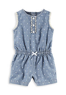 Carter's Chambray Polka Dot Romper