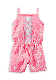 Carter's Floral Embroidered Romper