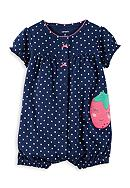 Carter's® Snap-Up Strawberry Romper