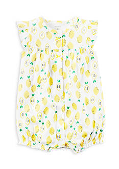 Carter's® White Lemon Snap-Up Cotton Romper