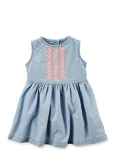 Carter's Embroidered Chambray Dress