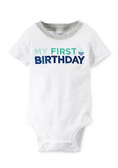 Carter's® Embroidered 'My First Birthday' Bodysuit