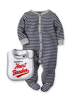 Carter's® 2-Piece 'Mommy's Heart Breaker' Bib and Stripe Sleep and Play Set