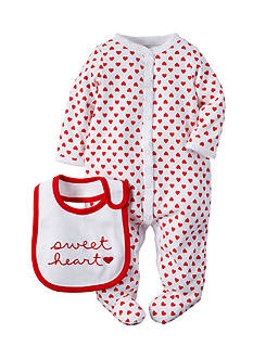 Carter's® 2-Piece 'Sweetheart' Bib and Heart Sleep and Play Set