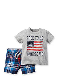 Carter's® 2-Piece 'Free To Be Awesome' Short Set