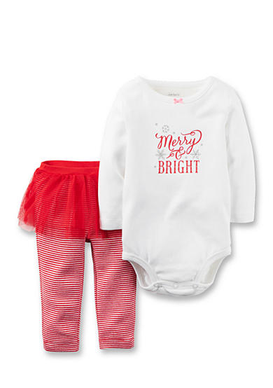 Carter's® 2-Piece Christmas Bodysuit & Tutu Pant Set