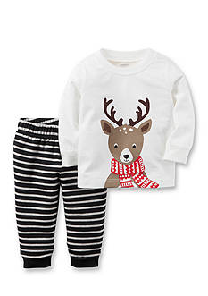 Carter's 2-Piece Reindeer Top & Fleece Pant Set
