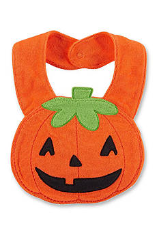 Carter's Jack-O-Lantern Terry Teething Bib