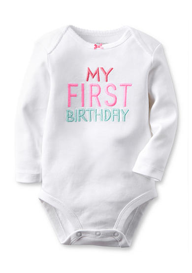Carter's® My First Birthday Bodysuit Baby/Infant Girl