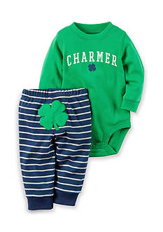Carter's® 2-Piece 'Charmer' St. Patrick's Day Bodysuit and Pant Set