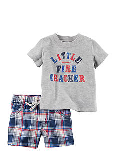 Carter's® 2-Piece Fourth of July Graphic Tee & Plaid Short Set