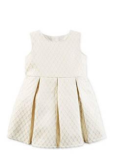 Carter's Metallic Jacquard Floral Dress