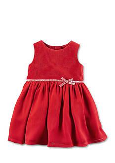 Carter's Velveteen Glitter Belt Dress