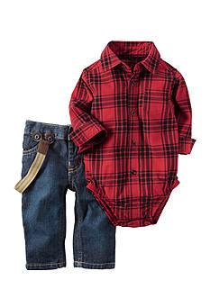 Carter's 2-Piece Button-Front Bodysuit and Denim Set