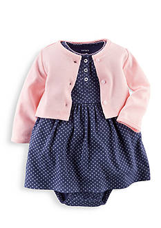 Carter's® 2-Piece Printed Dress and Cardigan Set