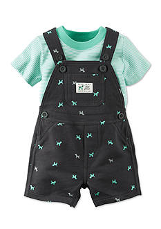 Carter's® 2-Piece Printed Dog Shortall and Bodysuit Set