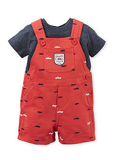 Carter's® 2-Piece Solid Tee and Printed Shortall Set