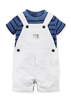 Carter's® 2-Piece Striped Tee and Solid Shortall Set