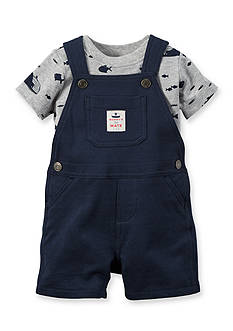 Carter's® 2-Piece Ocean Life Tee and Solid Overall Set
