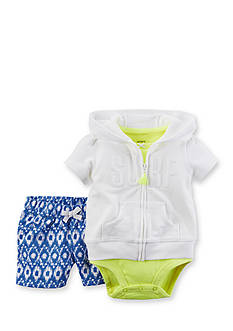 Carter's® 3-Piece Cardigan Surf Short Set