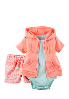 Carter's® 3-Pice Cardigan Love Short Set