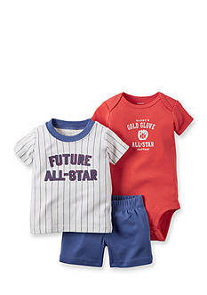 Carter's® 3-Piece Printed Bodysuit, 'Future All Star' Tee, and Short Set
