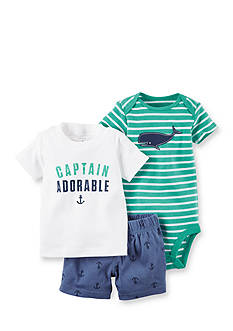 Carter's® 3-Piece Captain Adorable Shorts Set