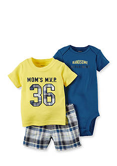 Carter's® 3-Piece 'Mom's MVP' MOMS Shorts Set