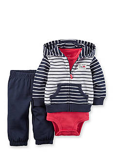 Carter's® 3-Piece Striped Cardigan and Pants Set