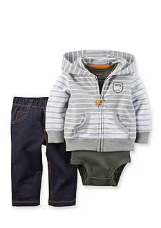 Carter's® 3-Piece Solid Cardigan, Bodysuit and Pants Set