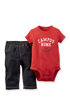 Carter's® 2-Piece Printed 'Campus Hunk' Bodysuit and Pant Set