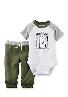 Carter's® 2-Piece Printed Construction Bodysuit and Pant Set