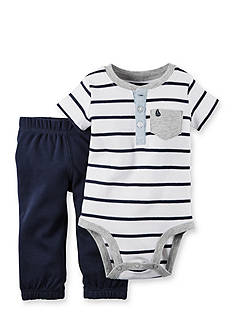 Carter's® 2-Piece Striped Bodysuit and Pants Set