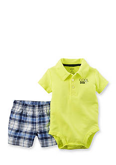 Carter's® 2-Piece 'Cool Dude' Plaid Short Set
