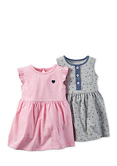 Carter's® 2-Pack Stripe and Printed Dresses