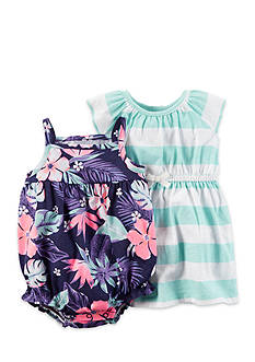 Carter's® 2-Pack Tropical Romper and Strip Dress  Set