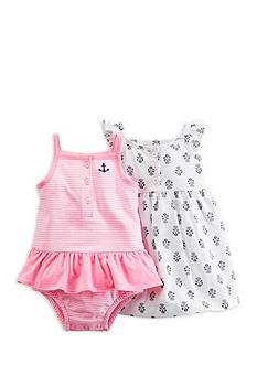 Carter's® 2-Pack Print and Stripe Dress Set