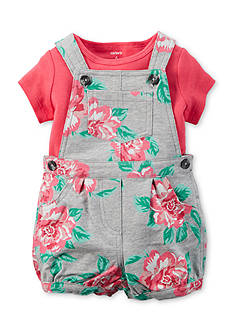 Carter's® 2-Piece Solid Tee and Floral Shortall Set