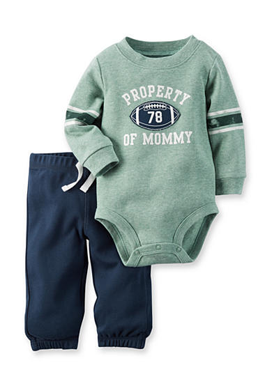 Carter's® 'Property of Mom' Football Bodysuit and Pants Set