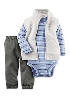 Carter's 3-Piece Little Quilt Vest Set