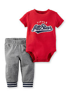 Carter's 'Little All Star' Short Sleeve Onesie and Pant Set